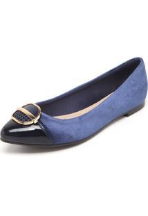 Sapatilha Moleca Detalhe Azul