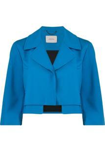 Dorothee Schumacher Emotional Essence Cropped Jacket - Azul
