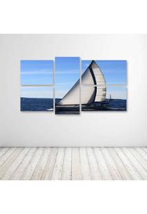 Quadro Decorativo - Sailing Vessel - Composto De 5 Quadros - Multicolorido - Dafiti