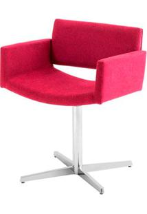 Poltrona Bino Assento Estofado Rustico Marsala Com Base Aranha Em Aluminio - 46913 - Sun House