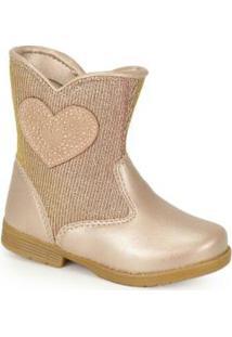 Ankle Boots Infantil Bellinha Cobre