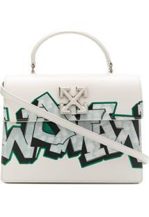 Off-White Jitney Graffiti Tote - Branco