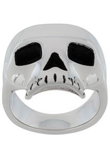 Northskull Anel 'Skull' De Prata - Metálico