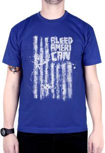 Camiseta Bleed American Dark Flag Royal