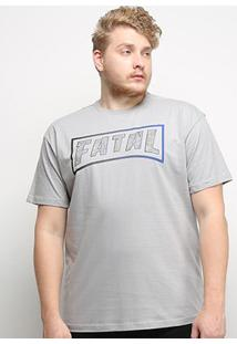 Camiseta Fatal Logo Ice Plus Size Masculina - Masculino-Prata