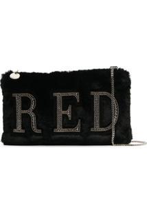 Red(V) Bolsa Tiracolo Com Aplicação De Logo - Preto