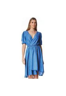 Vestido Jeans Zait Midi Veronica Azul Marinho