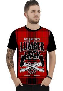 Camiseta Ramavi Xadrez Lumber Curta Preto