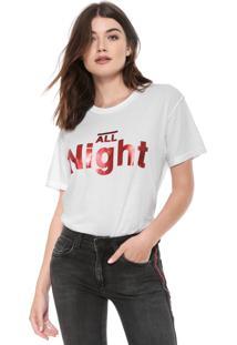 Camiseta John John All Night Branca