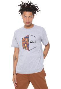 Camiseta Quiksilver Galactic Hea Cinza