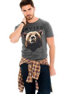 Camiseta Lavish Urso Cinza