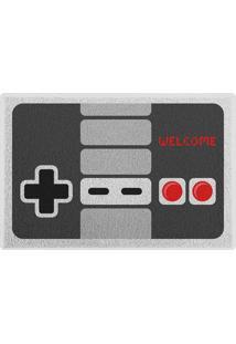 Capacho Gamer Joystick Retrô Geek10 - Multicolorido