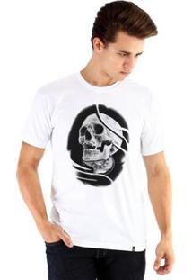 Camiseta Ouroboros Manga Curta Skull - Masculino-Branco