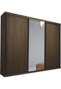 Guarda-Roupa Denver Com Espelho - 3 Portas - 100% Mdf - Amêndoa