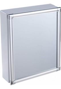 Armário Plástico Com Perfil De Alumínio De Sobrepor 36 X 45 X 11 Cm Al42 Astra