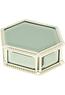 Porta-Joias- Espelhado & Dourado- 4X10X8Cm- Btc Btc Decor