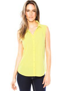 Camisa Aishty Transparência Amarela