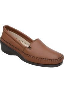 Sapato Luva De Pelica Salto Anabela 6006 Caramelo - Feminino