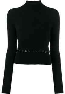 Alexander Mcqueen Camisa Polo De Tricô - Preto