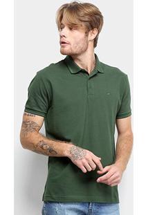 Camisa Polo Ellus Frisos Classic Masculina - Masculino-Musgo