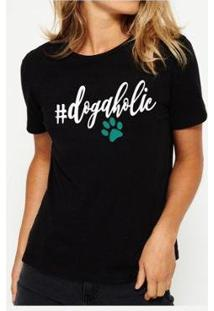 Camiseta Dogaholics Buddies Feminina - Feminino-Preto
