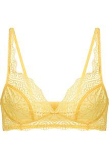 Sutiã Triângulo Renda Love Lace Amarelo