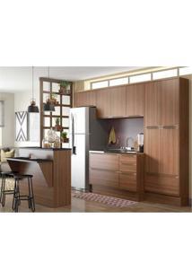 Cozinha Completa Multimóveis Com 6 Peças Calábria 5464R Nogueira