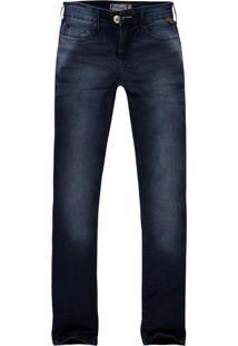Calça Jeans Khelf Stretch Reta Azul