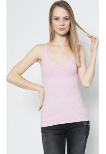 Blusa Canelada- Rosa Claro- Colccicolcci