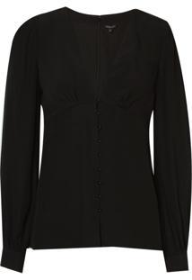 Camisa Le Lis Blanc Lucy Crepe 3 Preto Feminina (Black, 50)