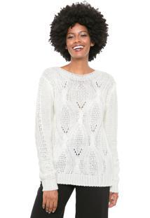 Suéter Mercatto Tricot Tranças Off-White