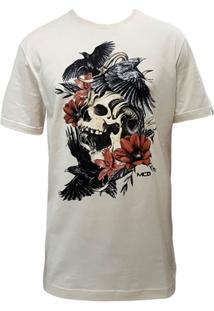 Camiseta Mcd Screen Skull Creme - Masculino