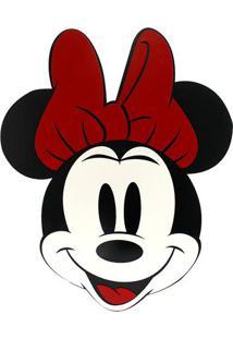 Quadro Decorativo Minnie® - Preto & Vermelho - 26X19Zona Criativa