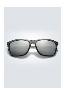 Óculos De Sol Quadrado Xy0733 - Prata E Cinza