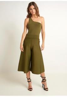 Calça Bobô Teca Tricot Verde Feminina (Verde Escuro, M)