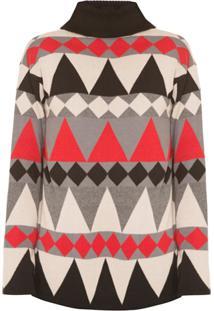 Allmost Vintage Blusa 'Ski' De Tricô - Multicolorido