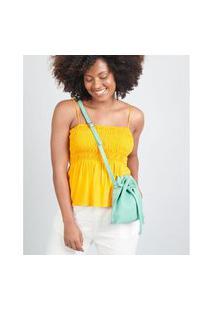 Bolsa Pequena Camurça - Verde Soulier