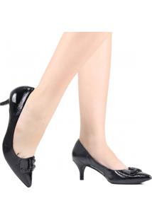 Sapato Scarpin Jorge Bischoff Bico Fino Preto