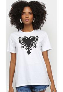 Camiseta Cavalera Tee Classic Cavalera Feminina - Feminino-Branco+Preto