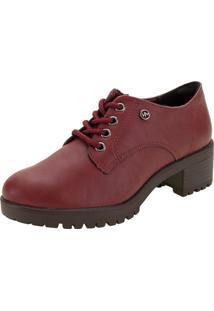 Sapato Feminino Oxford Via Marte - 208006 Vinho 34