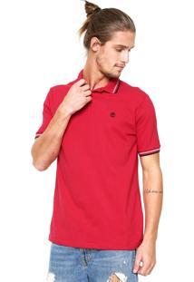 Camisa Polo Timberland Rib Vermelha