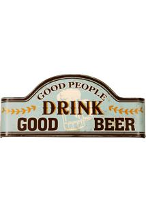 Placa De Metal Decorativa Vintage Drink Beer