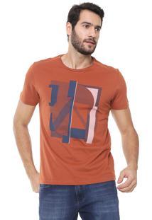 Camiseta Aramis Geométrica Caramelo
