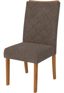 Cadeira Golden 2 Peças - Pena Marrom - Carvalho Americano