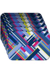 Jogo Americano - Love Decor Geometric Shapes Kit Com 6 Peã§As - Multicolorido - Dafiti