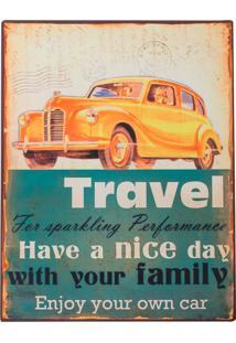 Placa Decorativa Travel