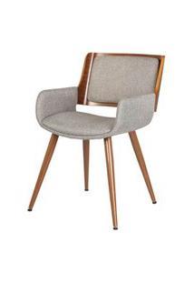 Cadeira Sonia Tecido Linho Cor Bege - 31696 Preto