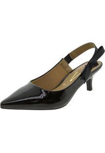 9b44a211e ... Sapato Feminino Chanel Verniz Preto Vizzano - 1122641