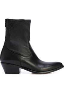 Rta Ankle Zipped Boots - Preto
