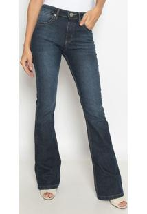 Jeans Flare Western Com Bolsos - Azulwrangler